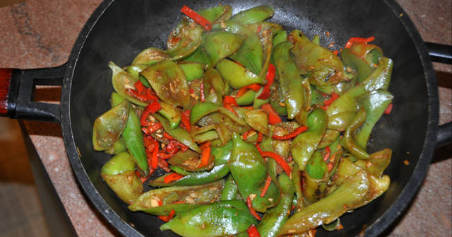 Achoca with Sweet Red Peppers, Achocha Recipes, One Community