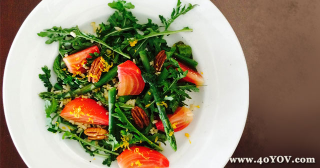 Beet Asparagus and Arugula Salad, Beet Recipes, One Community