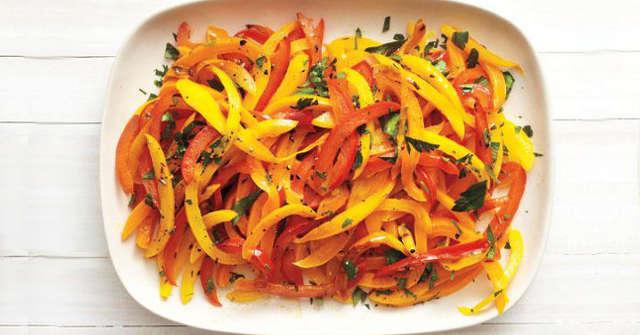 Bell Pepper Salad, Pepper Recipes, One Community