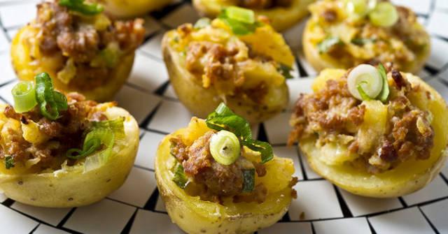 Chorizo Potato Bites, Potato Recipes, One Community