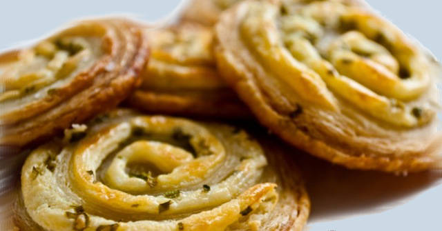 Cream Cheese and Chive Puff Pastry PinWheels, Chive Recipes, Allium Recipes, One Community