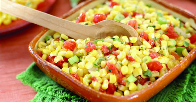Crunchy Corn Salad, Corn Recipes, One Community