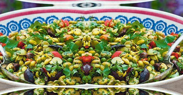 Pea, Broad Bean and Edamame Bean Salad, One Community