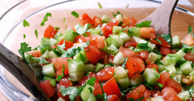 Tomato Cucumber Salad, Cucumber Recipes, One Community