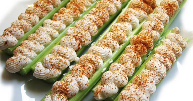 Vegan Stuffed Celery, Celery recipes, One Community