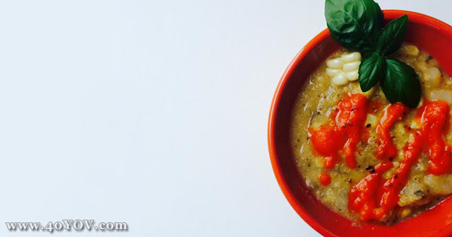 Corn and Potato Chowder with Roasted Red Pepper Puree, Chowder Recipes, Corn Recipes, One Community