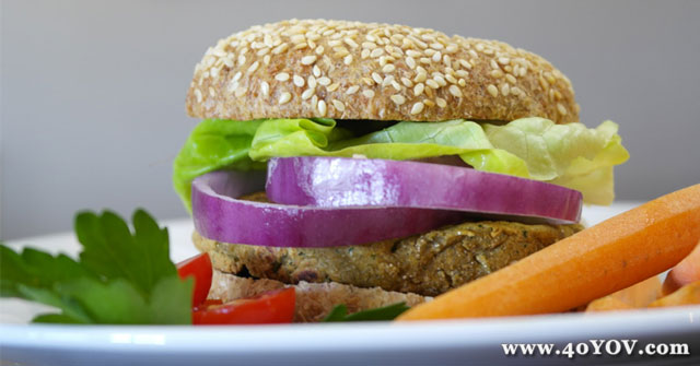 Garbanzo & Brown Rice Burgers, Brown Rice burger, One Community