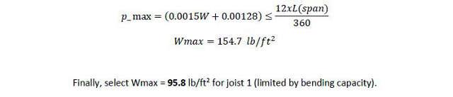 wmax deflection