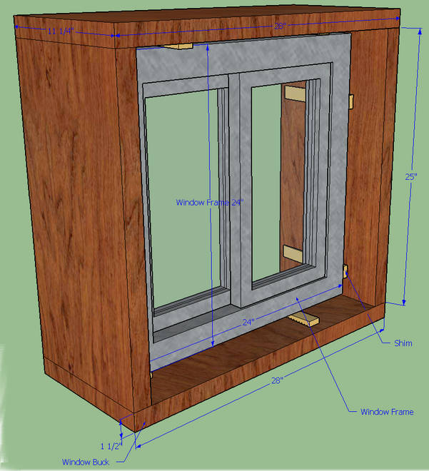Two/three 25u201d 2 x 12u0027s for the two side portions of the buck and the third will serve as an interior vertical brace in the center of the bucku2014nix this if we ... & Window/Door Framing for Earthdomes and Aircrete Domes