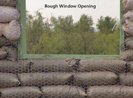 Rough Window opening