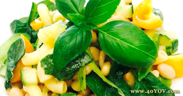 Beans & Greens Pasta Salad with White Balsamic Vinaigrette, Pasta Salad Recipes, Greens Recipes, One Community