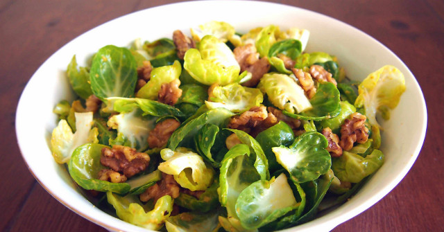 Brussel Sprouts Recipes, Paleo Balsamic Sprouts with Walnuts, One Community