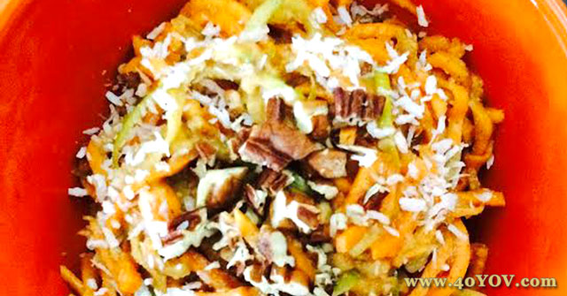 Sweet Potato Apple and Noodle Bake, Sweet Potato Recipes, One Community